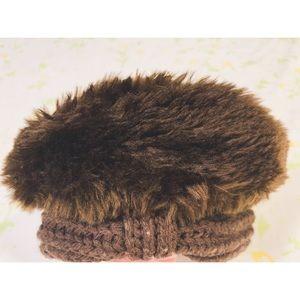 Vtg 80's Faux Fur Beret